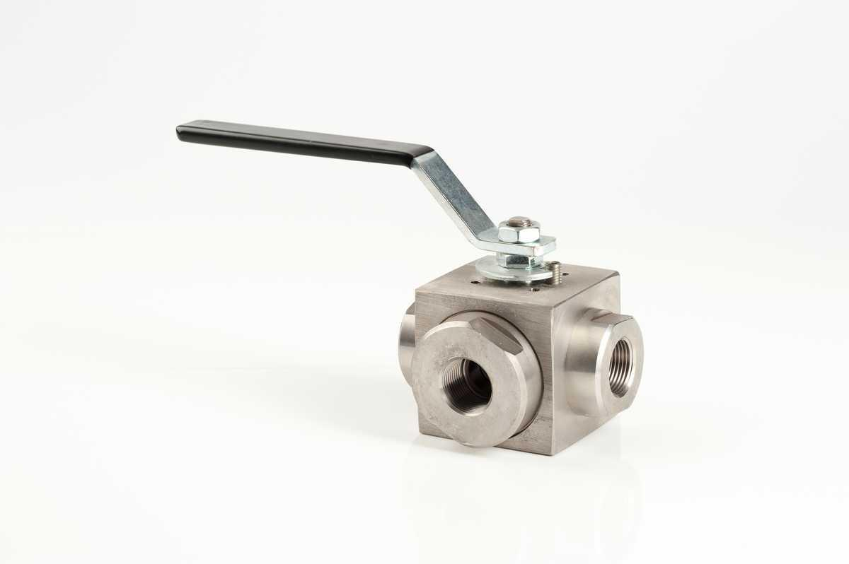 Three-Way high-pressure ball valves in Stainless Steel AISI 316